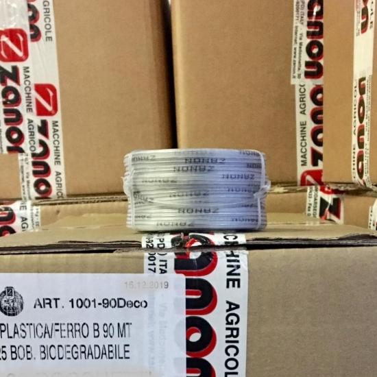 Bobina filo plastica/ferro da 90 mt biodegradabile per legatrice Zanon ZL25