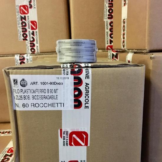 Scatola filo biodegradabile per legatrice Zanon ZL25- Scatolone da 60 rocchetti