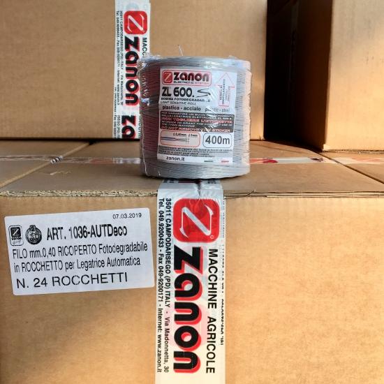 Scatola filo biodegradabile per legatrice Zanon - Scatolone da 24 bobine